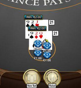 Blackjack splisten